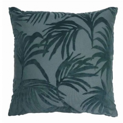 Palm Jacquard Dark Green Cushion 50Cm