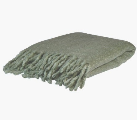 Baxter Sage Acrylic Super Soft Throw 130X150Cm