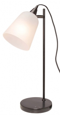 Xanthe Black W Frosted Glass Table Lamp