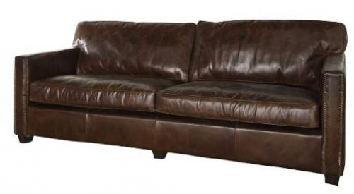 Madison 3 Seater Vintage Cigar Leather 2200X1030X8