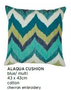 Alaqua Blue Multi Medium Cushion 43X43Cm