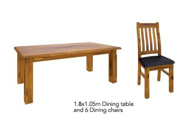 American Rustic 4.0 7Pc 1.8 Dining Suite