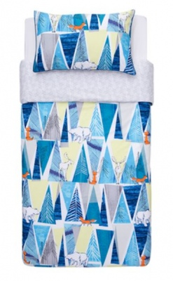 Kas Kids Arctic Blue Single Duvet Cover Set