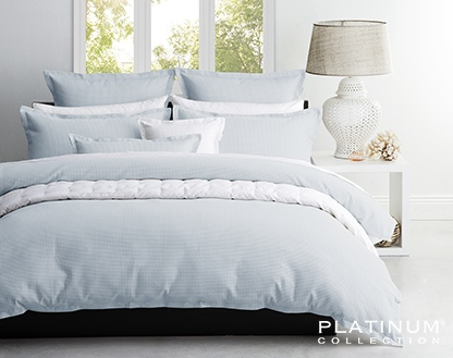 Platinum Ascot Spa Double Duvet Cover Set