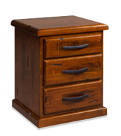 Albury 3Dr Bedside Cabinet Pine Wood 530X450X630