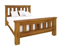 American Rustic 2.0 King Slat Bed Solid Pine
