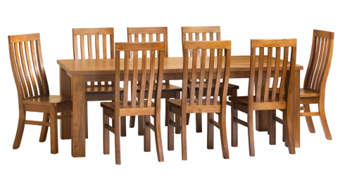 Ashton 9Pc Dining Suite 2250 Table 8 Chairs Pu Sea