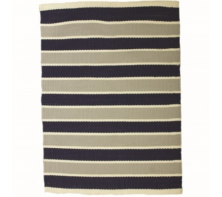 Ashworth Outdoor Rug Blue Grey Stripe 160X230Cm