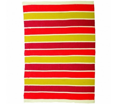 Ashworth Outdoor Rug Red Mustard Stripe 160X230Cm