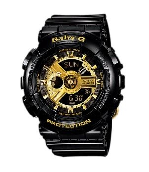 Baby-G Black Gold Digital & Analogue Watch