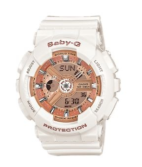 Baby-G White Rose Gold Digital & Analogue Watch