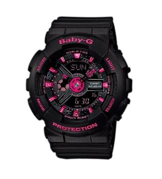 Baby-G Black Pink Digital & Analogue Watch