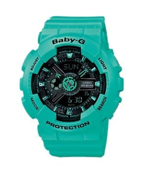 Baby-G Aqua Black Digital & Analogue Watch