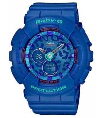 Baby G Blue Aqua Leopard Analogue Watch