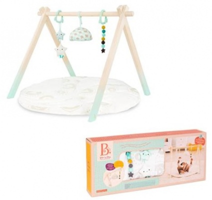 B. Starry Sky Wooden Play Gym And Mat
