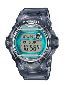 Baby-G Transparent Grey Aqua Digital Watch