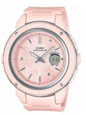 Baby-G Pink Flowers Analogue Watch