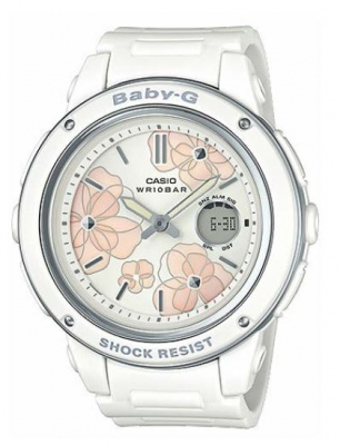 Baby-G White Pink Flowers Analogue Watch