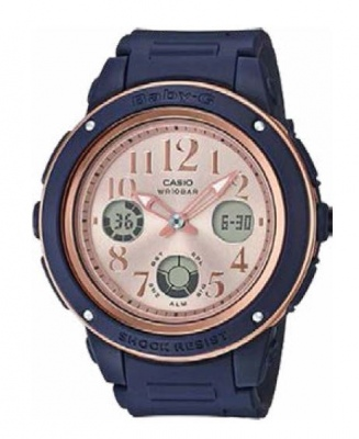 Baby-G Navy And Pink Analogue Watch