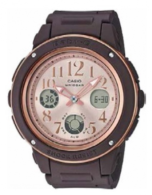 Baby-G Chocolate And Pink Analogue Watch