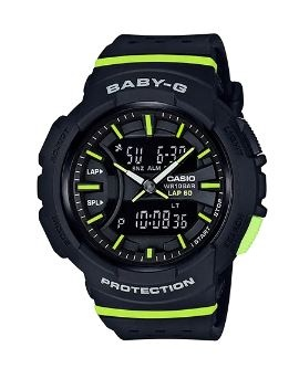 Baby-G Black Green Digital & Analogue Watch