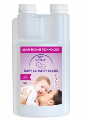 Nzyme Baby Laundry Wash Twin Pk 2X1Lt Plant Based