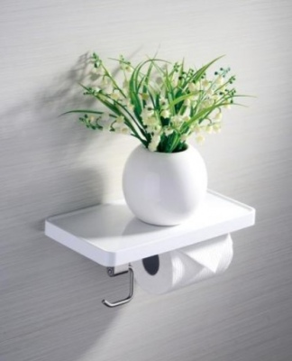 Ambience Roll Holder Shelf And Hook