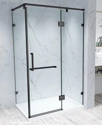 Prestine Matt Black Shower 1000X1000X1900M