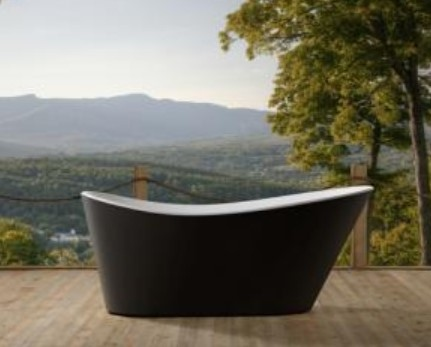 Muretto 1800 Freestanding Bath Tub Blk 1800X800X72