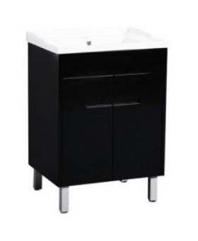 Crystal Fs 600 Single Black Vanity 610X460X860Mm