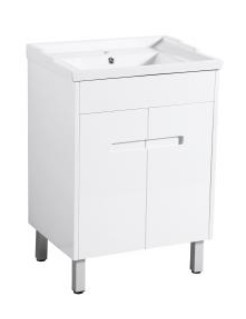 Crystal Fs 600 Single White Vanity 610X460X860Mm