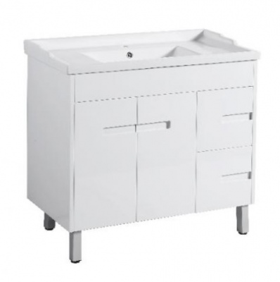 Crystal Fs 900 Single White Vanity 910X465X860Mm