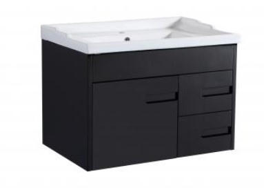 Crystal Wh 700 Single Black Vanity 710X465X480Mm