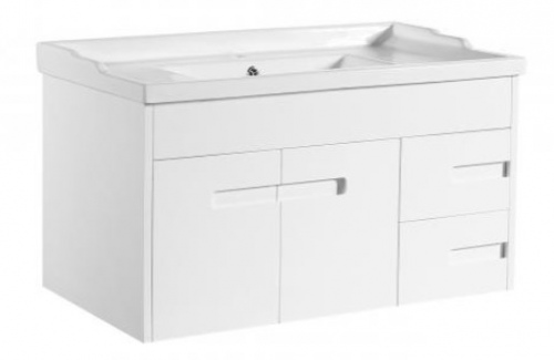Crystal Wh 900 Single White Vanity 910X465X480Mm