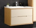 Matt Beige Wh 900 Vanity 900X460X600Mm & Glass Top
