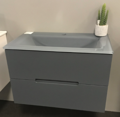 Dark Grey Gloss Wh 1200 Vanity 1200X460X500Mm Gtop