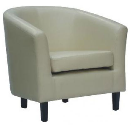 Boston Tub Chair Glossy Ivory PU 760X710X750