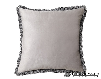 L&M Bowie Peach Square Fringed Cushion 45X45CM