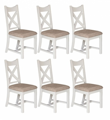 Beachside Dining Chair With Fabric Seat Set Of 4