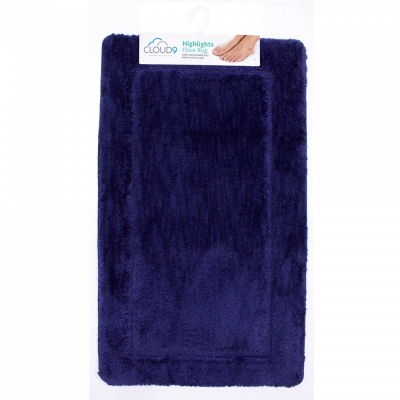 Cloud 9 Highlights Marine 60X100CM Large Bathmat