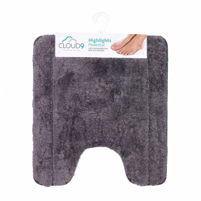 Cloud 9 Highlights Slate 50X57CM Pedestal Bathmat