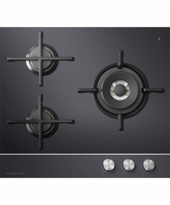 F&P Gas On Glass Cooktop 3 Burner Ng