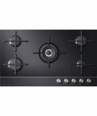 F&P Gas On Glass Cooktop 5 Burner Lpg