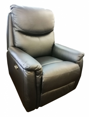 Bentley Lifter Chair In Black Leather