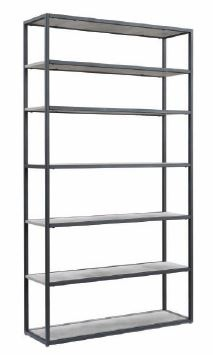 Chrysler Bookcase 1000X300X1800H Cement Look Shelv