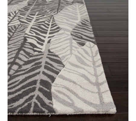 Botanica White Silver Charcoal Leaves 1.6X2.3 Wool