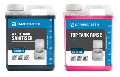 Campmaster 1L Waste +1L Top Tank Toilet Chemicals