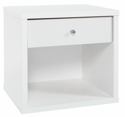 Cosmo 1 Draw Bedside Cabinet White 474X459H