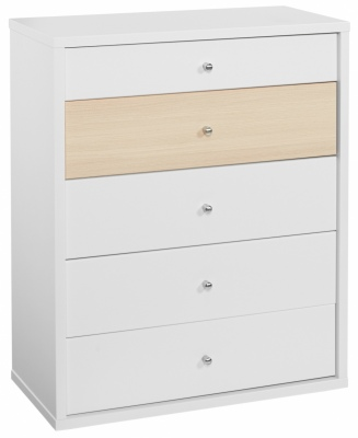 Cosmo 5 Draw Chest White/Beech 794X971H
