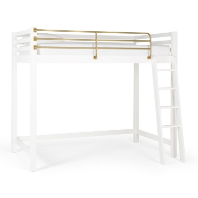 Tween King Single Loft Bed With Gold Bar